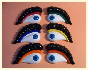 Coloured Luzzu Eye Magnet